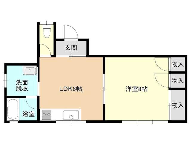 アパート 青森県 青森市 長島3丁目 田澤アパート 1LDK