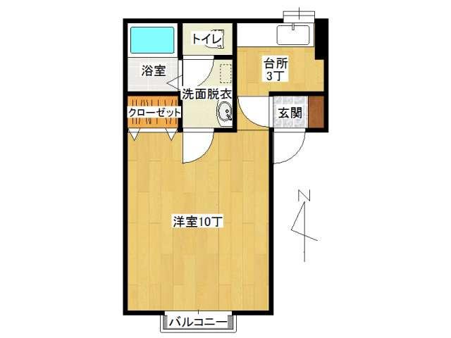 アパート 弘前市早稲田2丁目「ボナージュ・ポム」101号室 メイン画像
