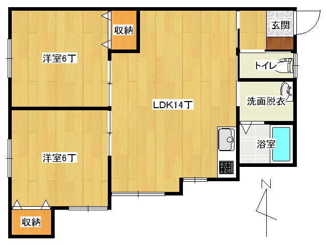 アパート 弘前市早稲田3丁目「エステート・パレ・わせだ」201号室 メイン画像