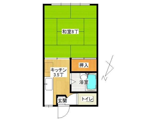 アパート 弘前市城東5丁目「ソシアルハイツ」205号室 メイン画像