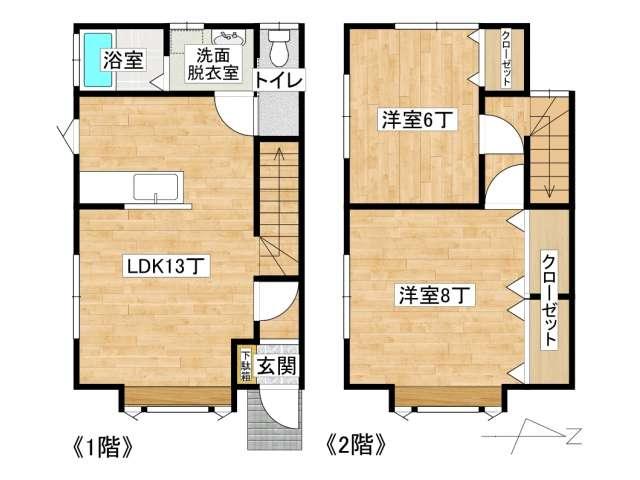 アパート 弘前市藤代3丁目「ハウス・ジュン」A号室 メイン画像