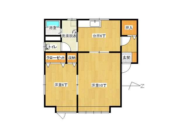 アパート 弘前市早稲田3丁目「カトルメゾン」201号室 メイン画像