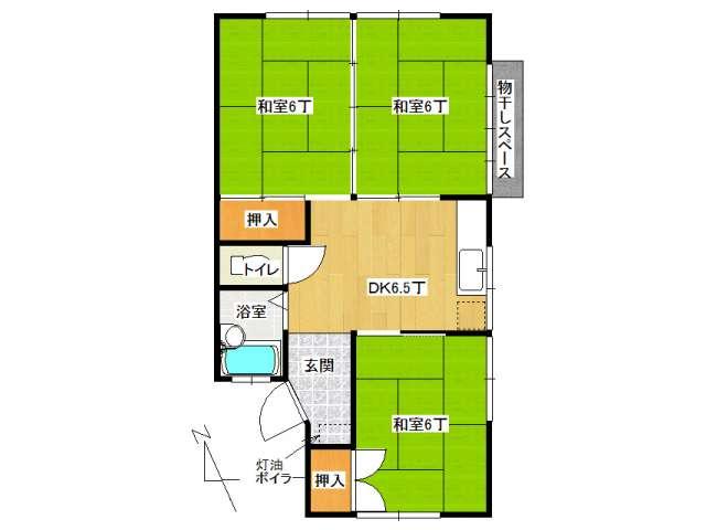 アパート 弘前市取上5丁目「千葉アパートB棟」102号室 メイン画像