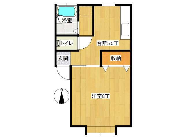 アパート 弘前市石渡3丁目「メナハウス」202号室 メイン画像