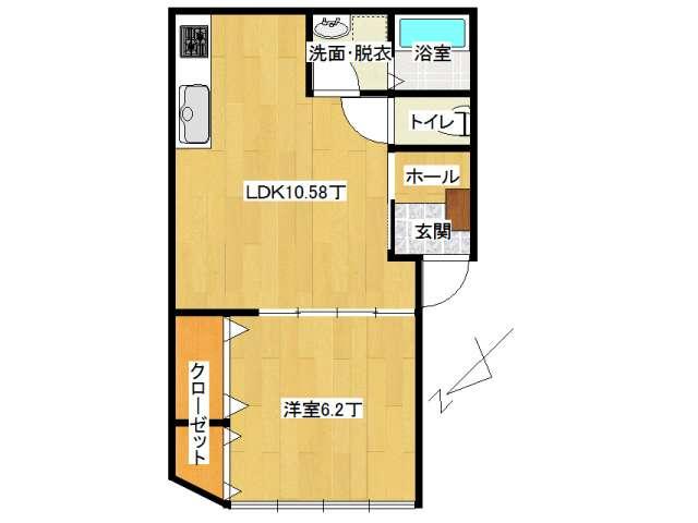 アパート 弘前市早稲田3丁目「ピュアハウスC」102号室 メイン画像