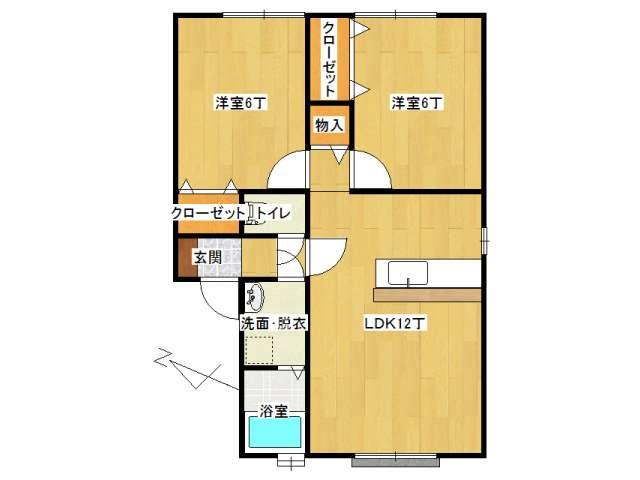 アパート 弘前市稲田2丁目「サンモール稲田A棟」202号室 メイン画像