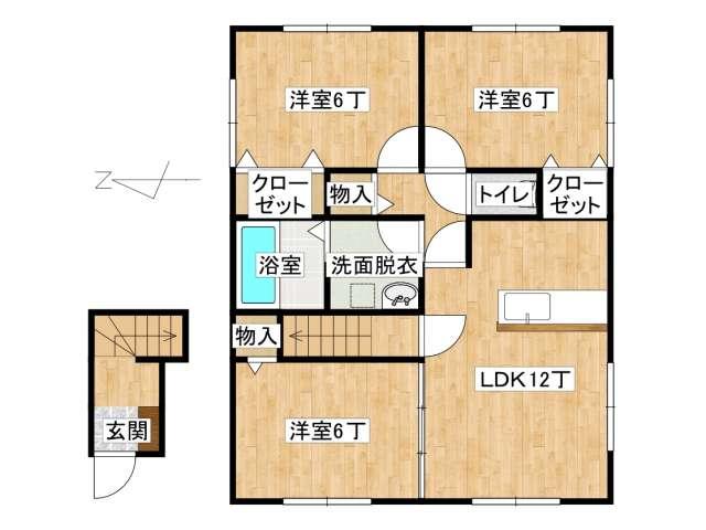 アパート 弘前市早稲田3丁目「コモド早稲田」201号室 メイン画像