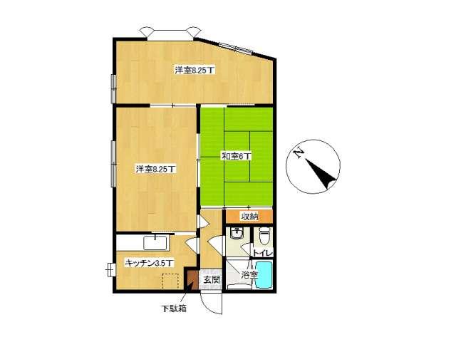 アパート 弘前市松ケ枝4丁目「マツガエプラザ」202号室 メイン画像
