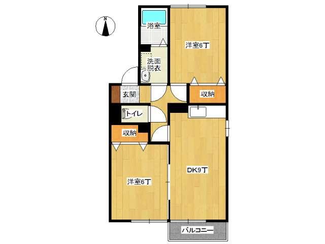 アパート 弘前市早稲田1丁目「ウィルモア城東」101号室 メイン画像