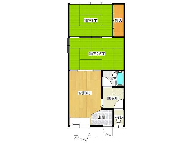 アパート 弘前市城東中央4丁目「コーポ高光」206号室 メイン画像