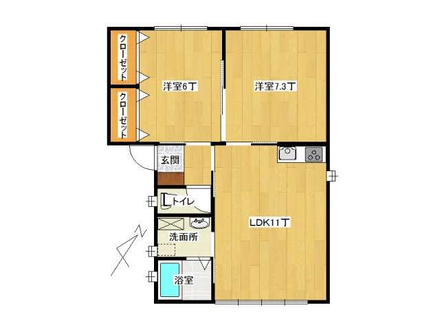 アパート 黒石市美原町「MメゾンⅠ」C号室 メイン画像