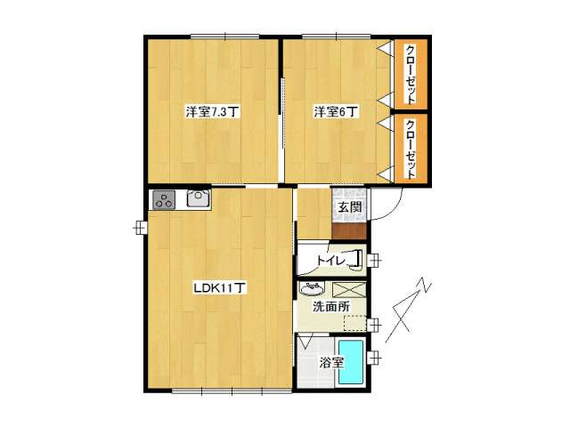 アパート 黒石市美原町「MメゾンⅠ」B号室 メイン画像