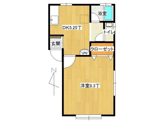 アパート 弘前市宮川2丁目「コーポさくら」101号室 メイン画像
