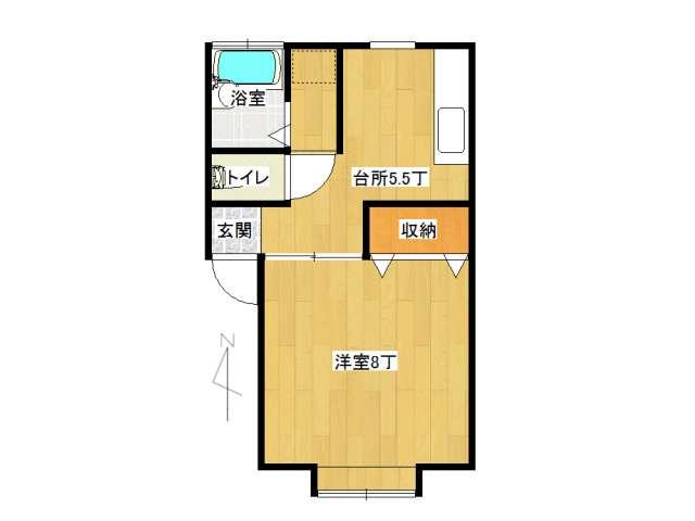 アパート 弘前市石渡3丁目「メナハウス」205号室 メイン画像