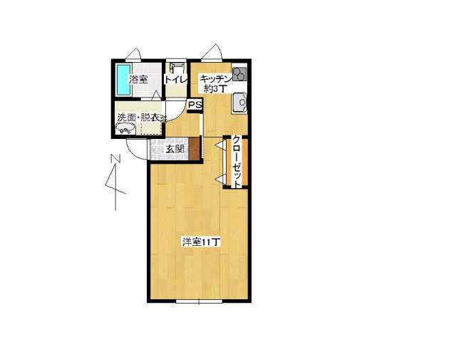 アパート 弘前市早稲田4丁目「ドゥ早稲田」102号室 メイン画像