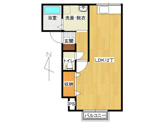 アパート 弘前市末広2丁目「メゾン・アヴニール B棟」102号室 メイン画像