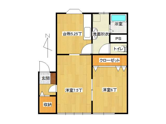アパート 弘前市早稲田2丁目「ファインステージ」205号室 メイン画像