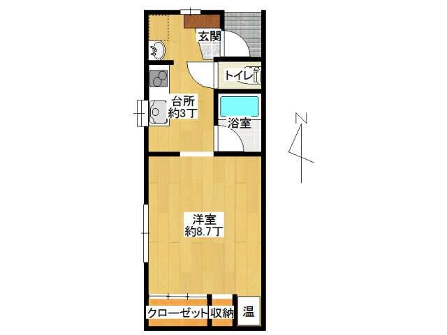アパート 弘前市石渡2丁目「コーポ石渡」103号室 メイン画像