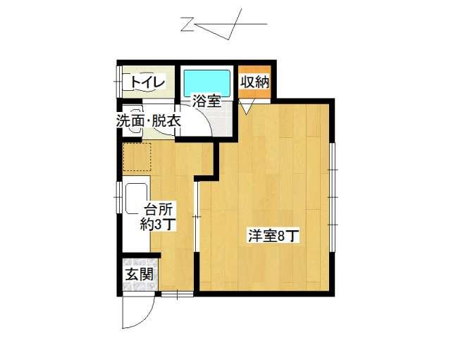 アパート 弘前市宮川3丁目「フレンドパーク」101号室 メイン画像