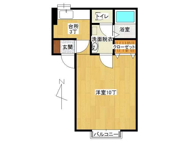 アパート 弘前市早稲田2丁目「ボナージュ・ポム」105号室 メイン画像