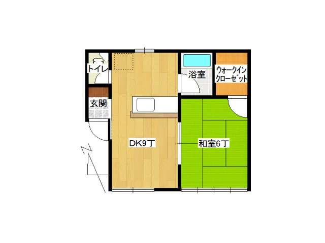 アパート 弘前市城東中央3丁目「マリーヴィレッジB」201号室 メイン画像
