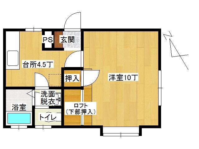 アパート 弘前市高田2丁目「フリーダムスペースB棟」106号室 メイン画像