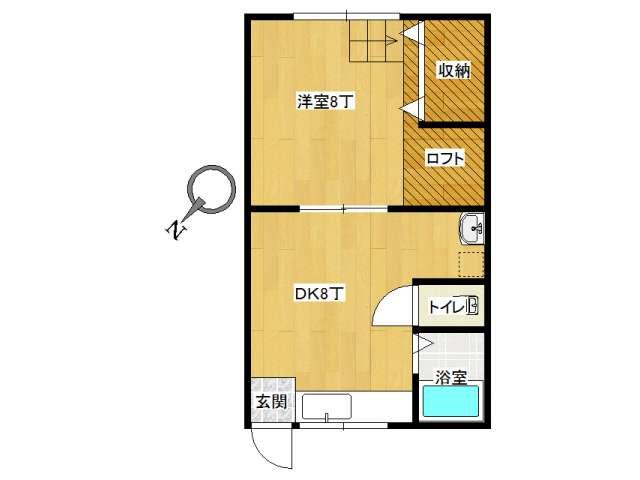 アパート 弘前市高田1丁目「コーポミヤコ」202号室 メイン画像