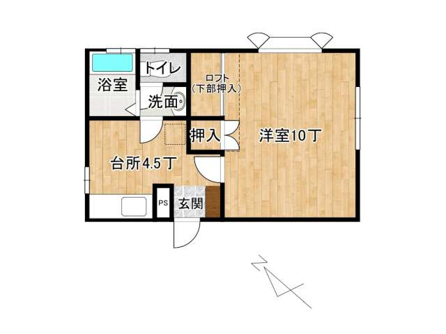 アパート 弘前市高田2丁目「フリーダムスペースB棟」103号室 メイン画像