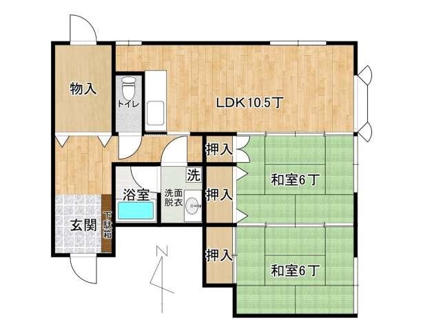 アパート 弘前市松ケ枝4丁目「マツガエプラザ」105号室 メイン画像