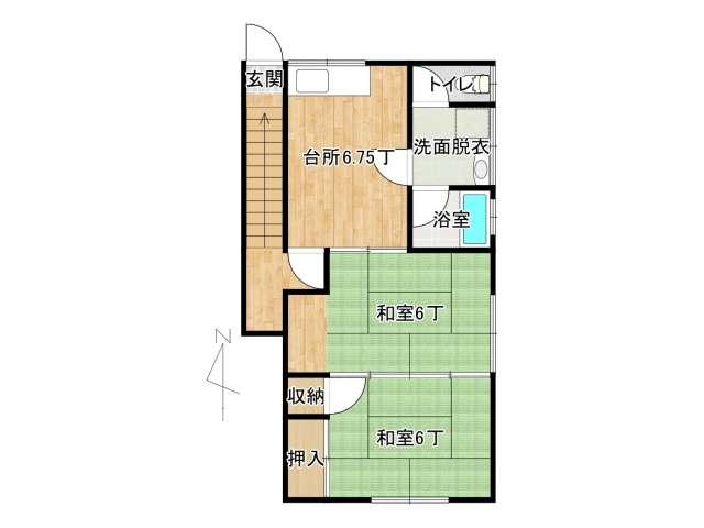 アパート 弘前市植田町「寺嶋ハイツ」B号室 メイン画像