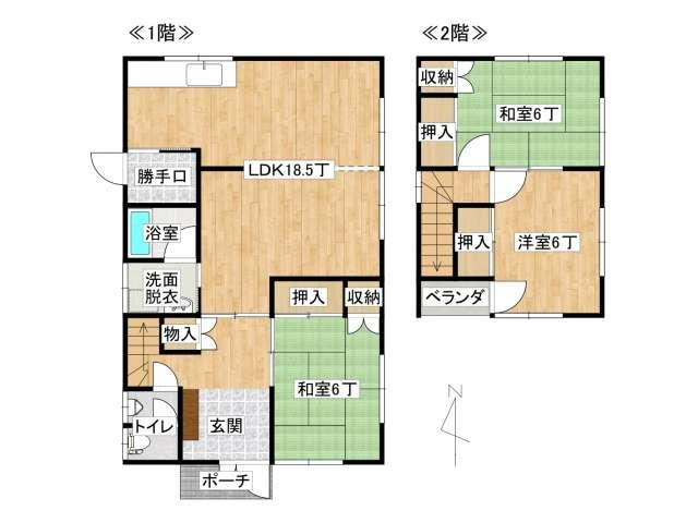 戸建 弘前市八幡町3丁目「コートハウス」3号室 メイン画像
