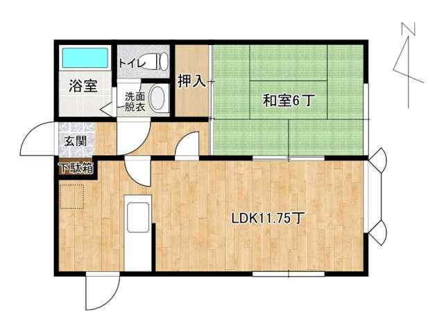 アパート 弘前市松ケ枝4丁目「マツガエプラザ」201号室 メイン画像
