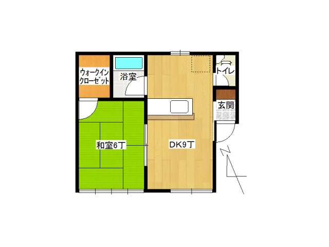 アパート 弘前市城東中央3丁目「マリーヴィレッジB」202号室 メイン画像