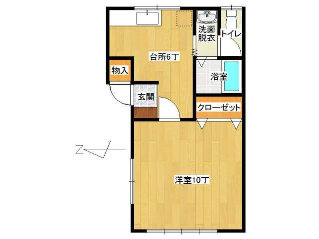 アパート 弘前市八幡町2丁目「メゾンOTA」103号室 メイン画像