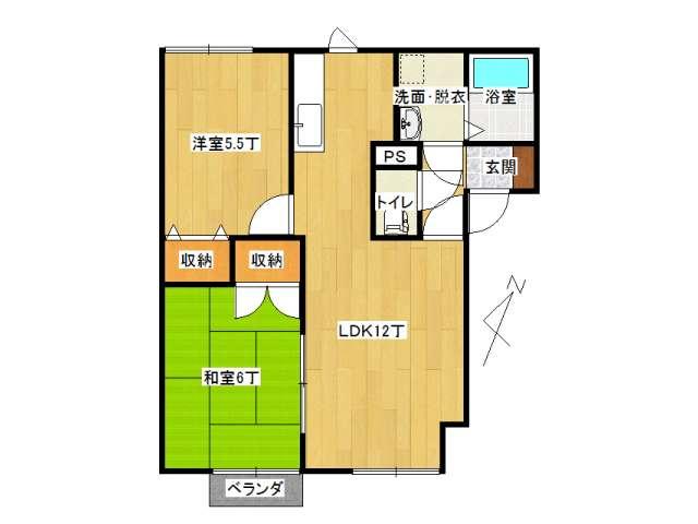 アパート 弘前市小比内5丁目「メイユールエスペランス」101号室 メイン画像