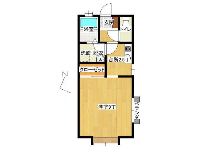 アパート 弘前市小比内5丁目「レジデンス330」B号室 メイン画像