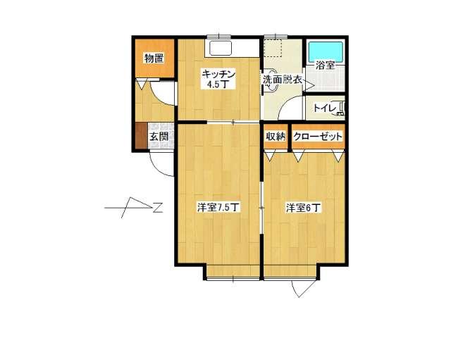 アパート 弘前市城東1丁目「ピアチェーレ・ドゥエ」205号室 メイン画像