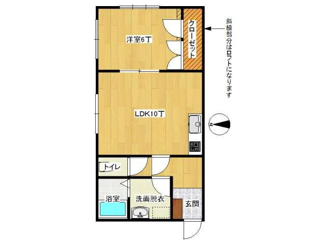 アパート 弘前市田園1丁目「メゾンピュア」206号室 メイン画像