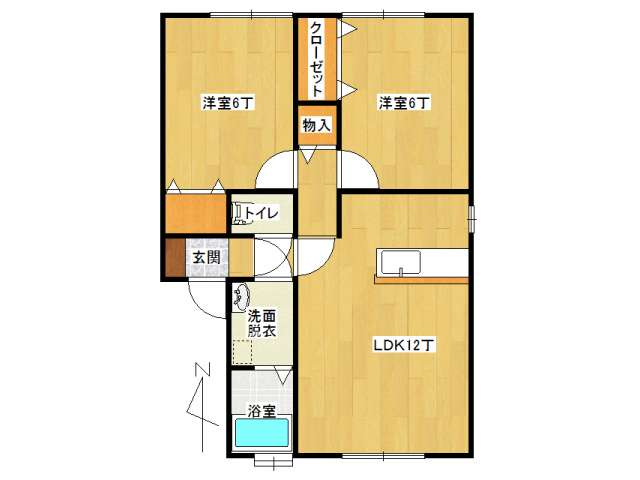 アパート 弘前市早稲田4丁目「セジュール早稲田B棟」102号室 メイン画像