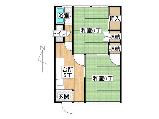 アパート 弘前市城東北1丁目「いなほマンション」23号室 メイン画像
