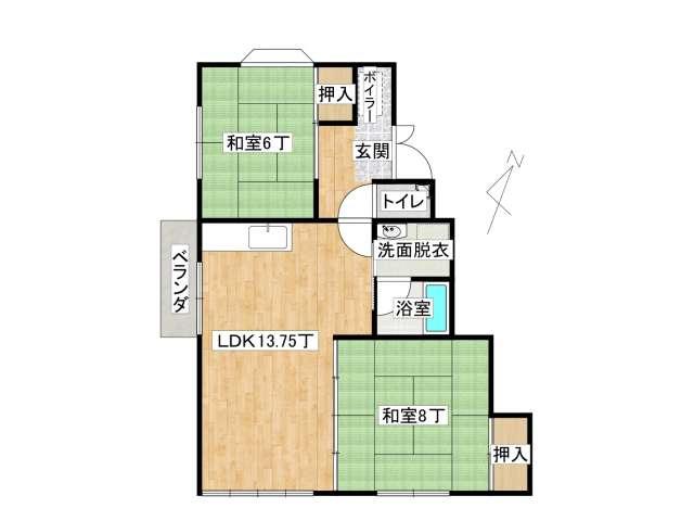 アパート 弘前市城東5丁目「SEハイツ」D号室 メイン画像
