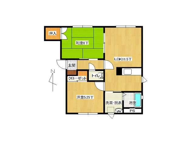 アパート 弘前市城東北2丁目「クレール」202号室 メイン画像