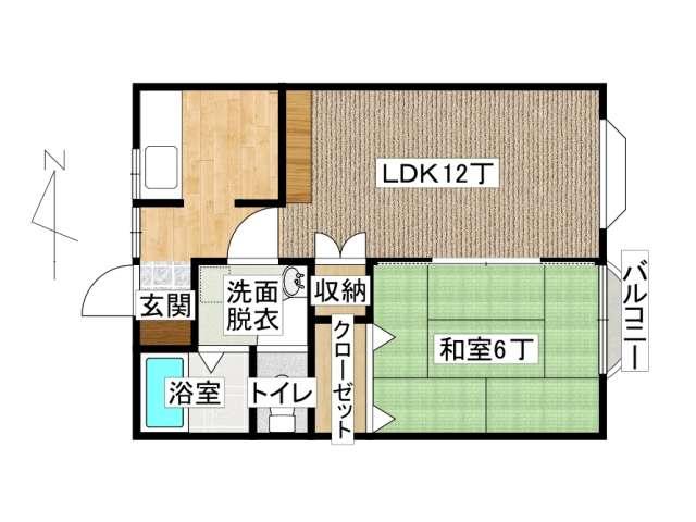 アパート 弘前市田園1丁目「メゾンコージⅡ」202号室 メイン画像