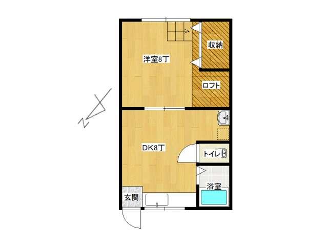 アパート 弘前市高田1丁目「コーポミヤコ」205号室 メイン画像