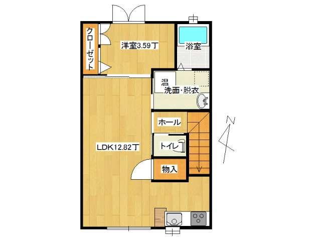 アパート 弘前市田園4丁目「アップルメゾン田園」201号室 メイン画像
