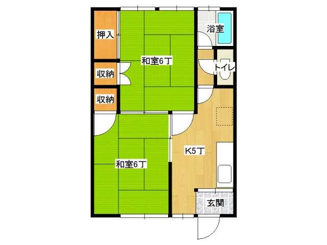アパート 弘前市城東北1丁目「いなほマンション」25号室 メイン画像