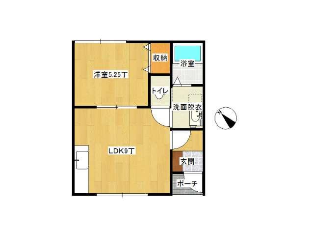アパート 弘前市新寺町「ルグラン清風」101号室 メイン画像