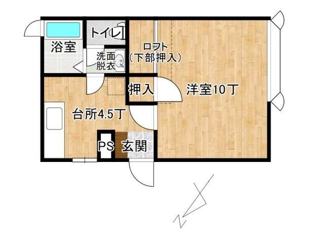 アパート 弘前市高田2丁目「フリーダムスペースB棟」202号室 メイン画像