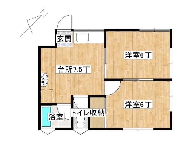 アパート 弘前市取上4丁目「グレージュレジデンス」201号室 メイン画像