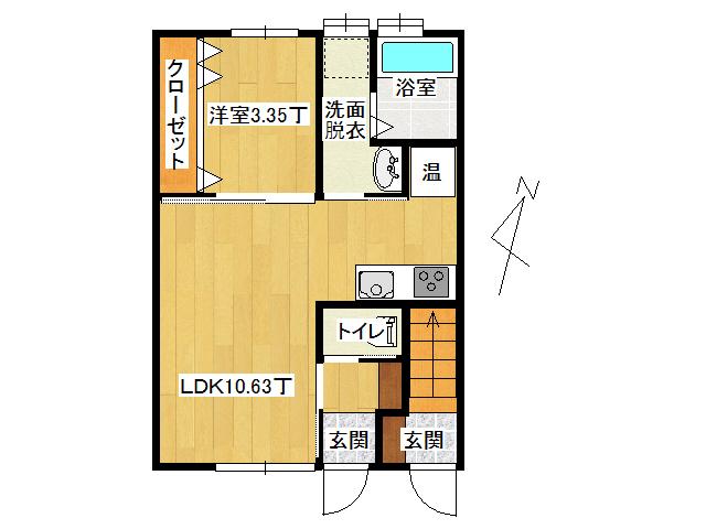 アパート 弘前市田園4丁目「アップルメゾン田園」105号室 メイン画像